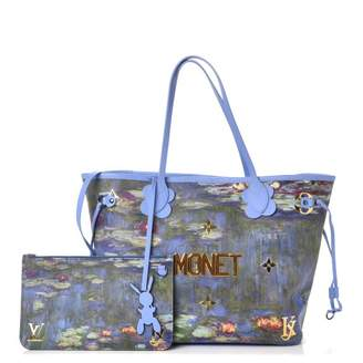 Pre Owned At Stockx Louis Vuitton Neverfull Monet Masters Jeff Koons Mm Periwinkle Multicolor