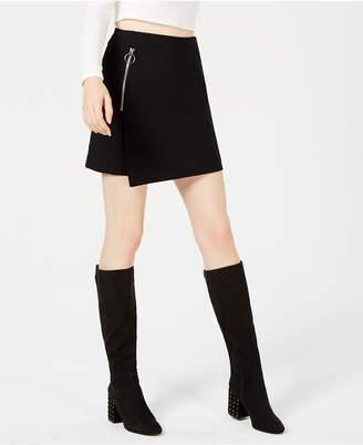 Bar III Asymmetrical Mini Skirt