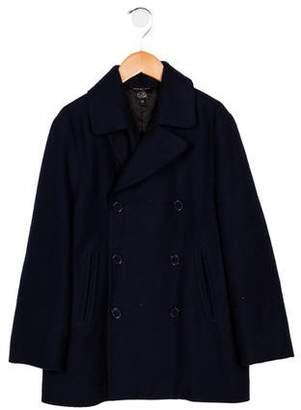 Little Marc Jacobs Girls' Double-Breasted Wool Coat