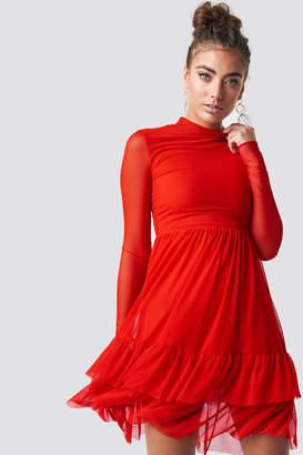 Luisa Lion X Na Kd Mesh Frill Dress