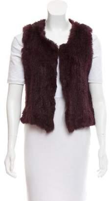 Knitted Rabbit Fur Vest