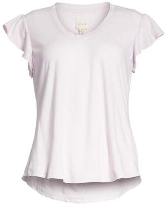 Rebecca Taylor Flutter Sleeve Tee