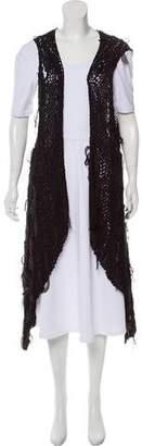 Masnada Draped Open Knit Vest w/ Tags