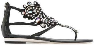 Rene Caovilla embellished ankle sandals
