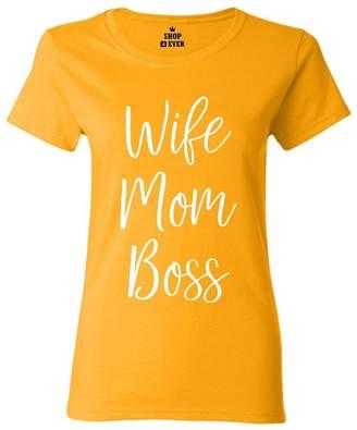 DAY Birger et Mikkelsen Shop4Ever Wife Mom Boss Women's T-Shirt Mother's Shirts