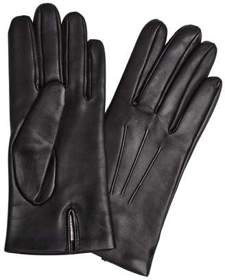 Dents Bath Black Leather Gloves