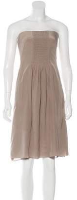 Akris Punto Silk Ruched Dress