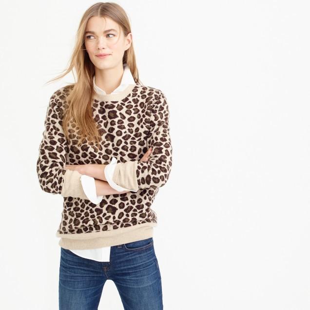 J.CrewItalian cashmere leopard sweater