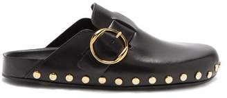 Isabel Marant Mirvin Backless Leather Clogs - Womens - Black