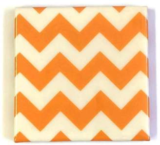 Robotcandy Orange Chevron Coaster