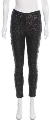 Karl Lagerfeld by Sequin Mid-Rise Pants