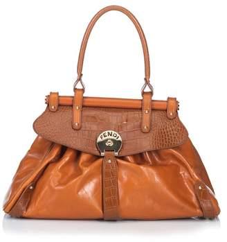 Brown Crocodile Embossed Leather Handbags - ShopStyle f85537c9b04e3