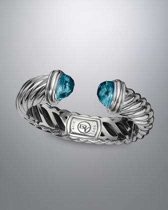 David Yurman Waverly Bracelet with Blue Topaz