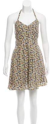 Elizabeth and James Silk Halter Neck Dress