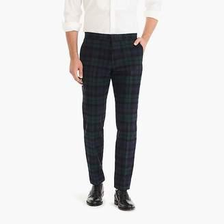 J.Crew Ludlow slim-fit tuxedo pant in Black Watch tartan