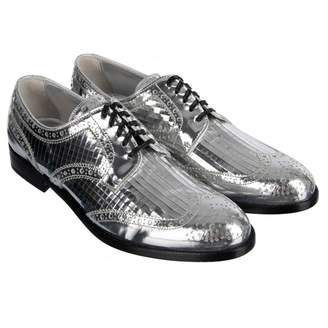 Dolce & Gabbana Silver Leather Lace ups