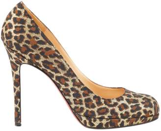 Christian Louboutin Fifi cloth heels