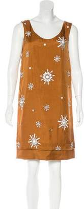 Philosophy di Alberta Ferretti Silk Embellished Dress w/ Tags