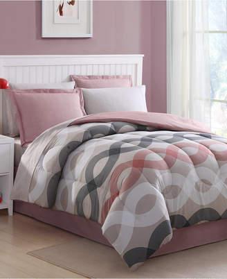 Ellison First Asia Geo Lines 8-Pc. Queen Comforter Set