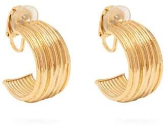 Aurelie Bidermann Thalia Gold Plated Hoop Earrings - Womens - Gold