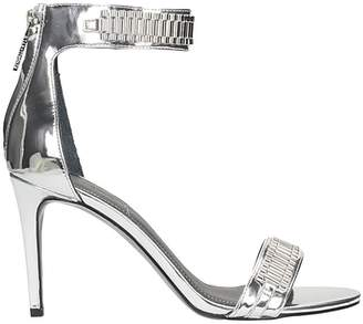 KENDALL + KYLIE Mia Heeled Sandals Silver Leather