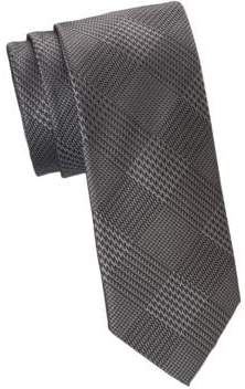 Saks Fifth Avenue COLLECTION Glen Plaid Formal Tie