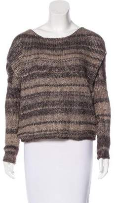 360 Cashmere Striped Knit Sweater