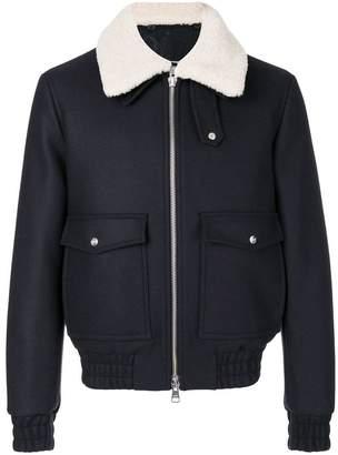 Ami Alexandre Mattiussi zipped jacket with shearling collar
