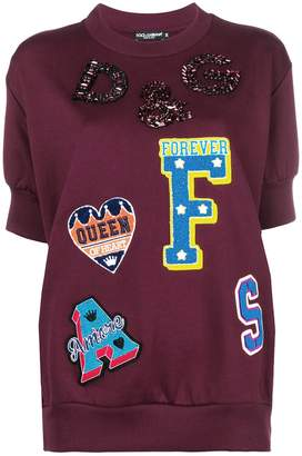 Dolce & Gabbana varsity letterman sweater
