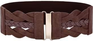 GRACE KARIN Women's Costume Braided Corset Belt PU Waist Belts (M,Navy 469-5)