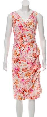 Chiara Boni Sleeveless Midi Printed Dress