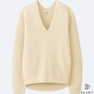 Uniqlo Women's 3d Cotton Cocoon Sweater