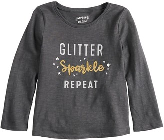 309a46cda Toddler Girl Jumping Beans Long Sleeve Holiday Graphic Tee