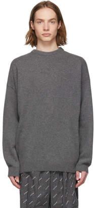 Balenciaga Grey Rose Sweater