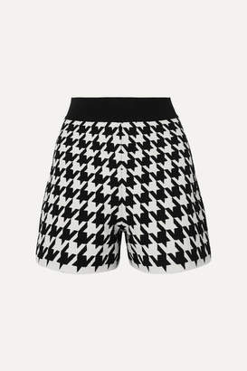 Alexander McQueen Houndstooth Jacquard-knit Shorts