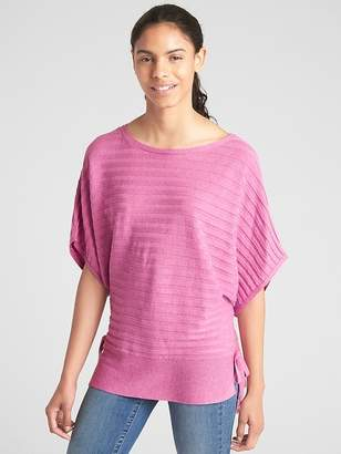 Gap Ribbed Dolman Sleeve Side-Tie Sweater