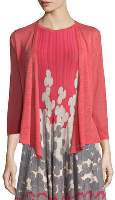 NIC+ZOE 4-Way Linen-Blend Cardigan, Spiced Rose $98 thestylecure.com