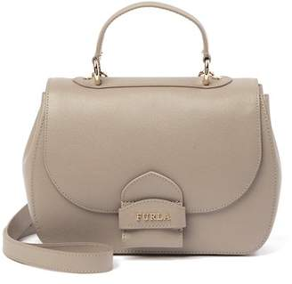 Furla Coral Small Top Handle Leather Satchel