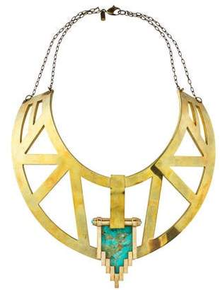 Pamela Love Turquoise Large Empire Collar Necklace