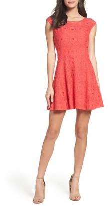 Women's Bb Dakota Lace Fit & Flare Dress $90 thestylecure.com