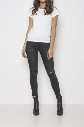 Neon Blonde Mid-Rise Skinny Jeans