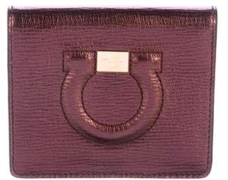 Salvatore Ferragamo Embossed Gancio Wallet