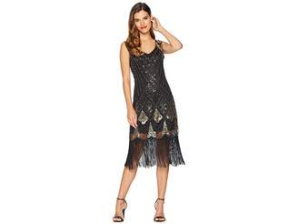 Unique Vintage Sequin Lina Fringe Flapper Dress