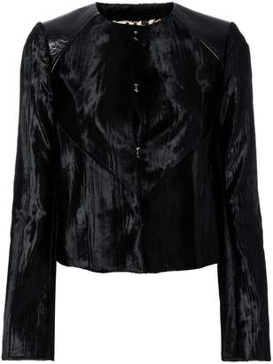 Just Cavalli velvet fitted jacket