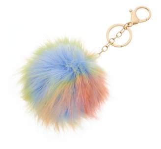 Mudd Rainbow Pom Pom Key Chain