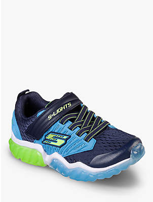 Skechers Children's S-Lights Rapid Flash Trainers, Blue