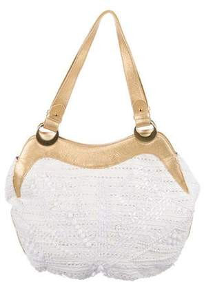Emilio Pucci Leather-Trimmed Beaded Tote