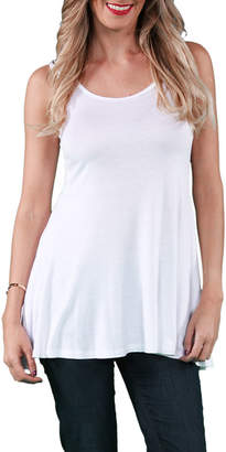 24/7 Comfort Apparel Sleeveless Tunic Knit Tank Top