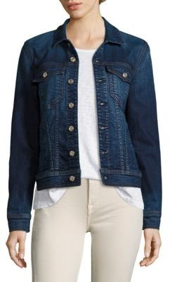 7 For All Mankind Classic Denim Jacket $189 thestylecure.com