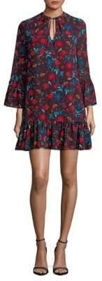 Calvin Klein Ditsy-Print Shift Dress